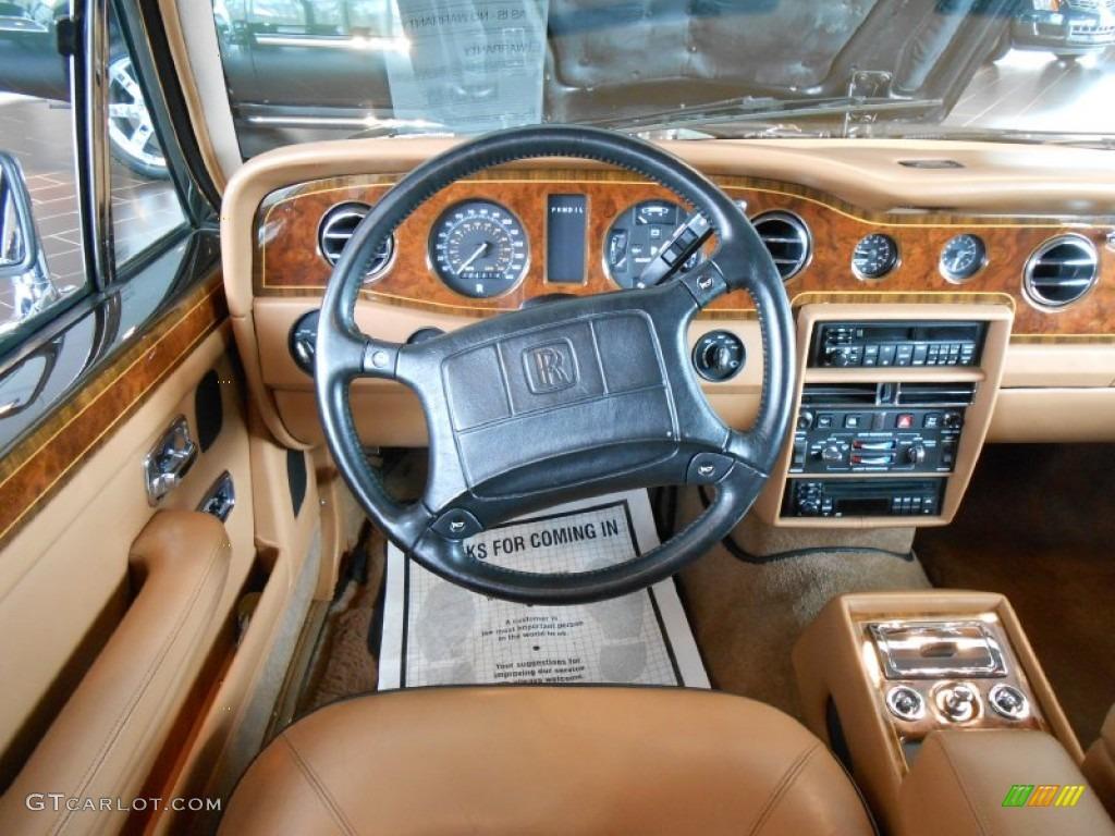1991 rolls royce silver spur ii standard silver spur ii model tan black dashboard
