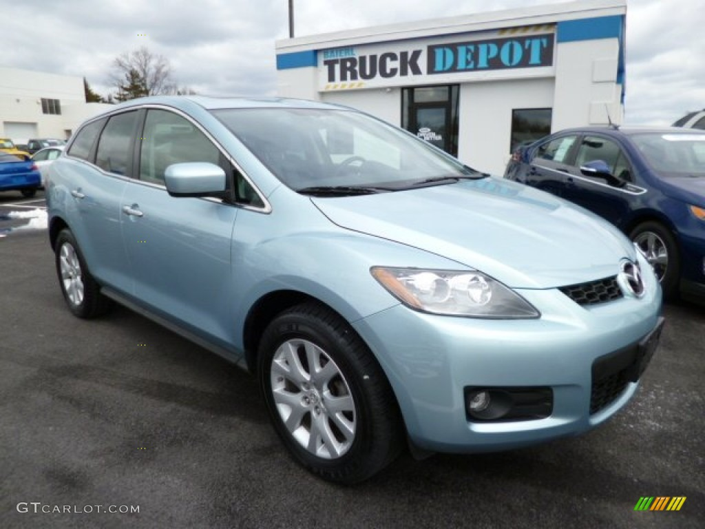 2007 icy blue metallic mazda cx 7 grand touring 78940250 car color galleries. Black Bedroom Furniture Sets. Home Design Ideas