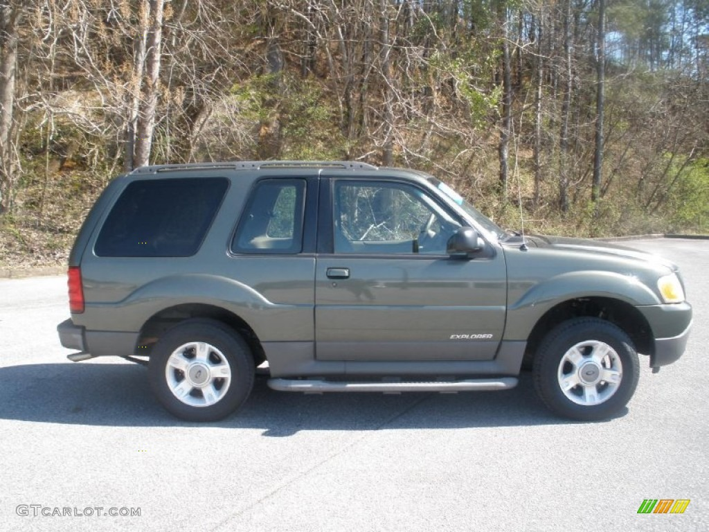2001 Explorer Sport - Estate Green Metallic / Medium Prairie Tan photo #2