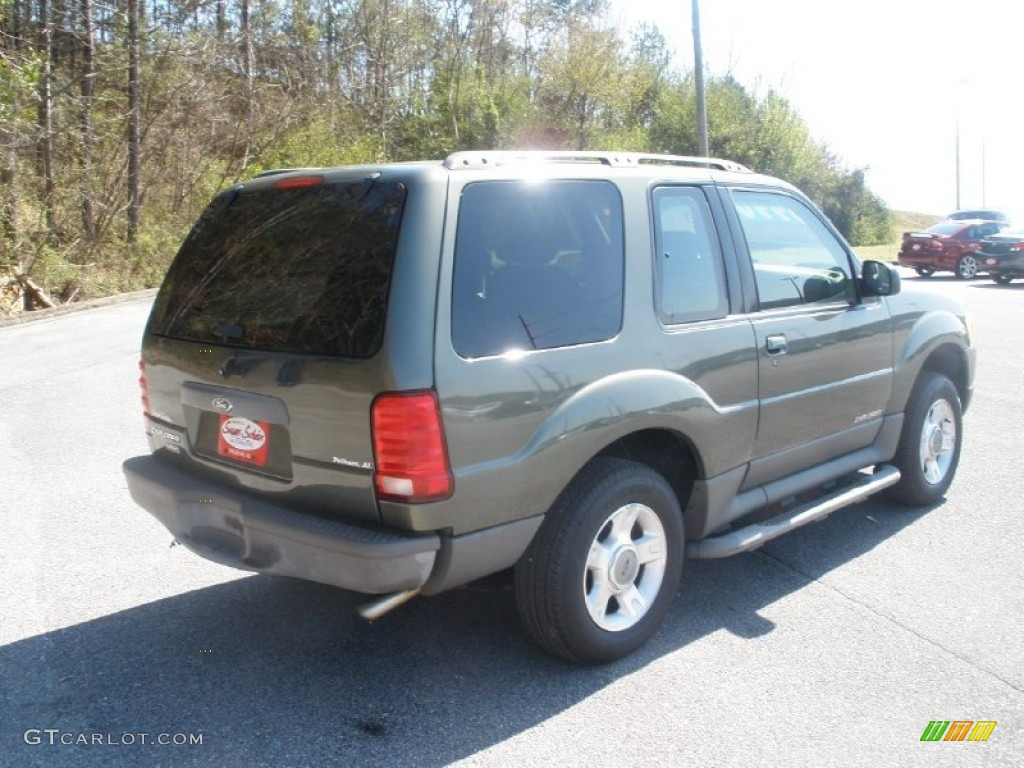 2001 Explorer Sport - Estate Green Metallic / Medium Prairie Tan photo #3
