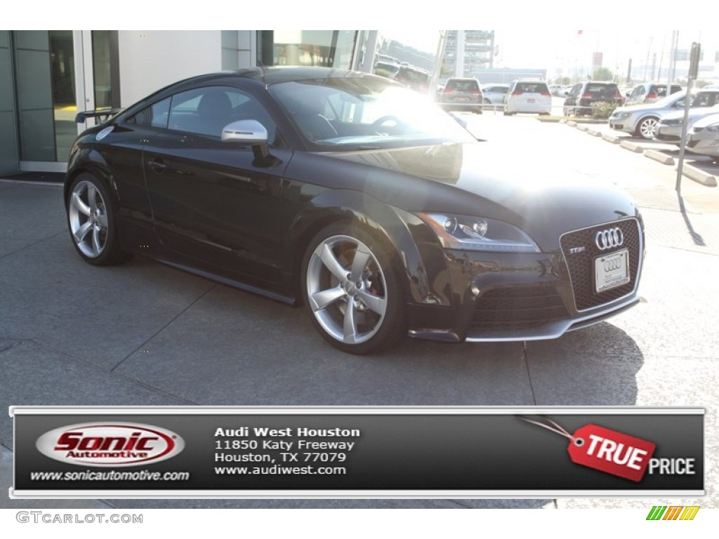 2013 TT RS quattro Coupe - Panther Black Crystal Effect / Black photo #1