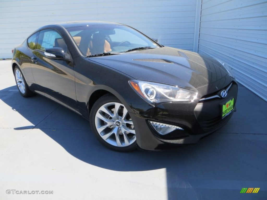 2013 Genesis Coupe 3.8 Grand Touring - Black Noir Pearl / Black Leather photo #1