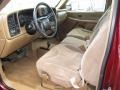 1999 Sierra 2500 SLE Regular Cab 4x4 Medium Oak Interior