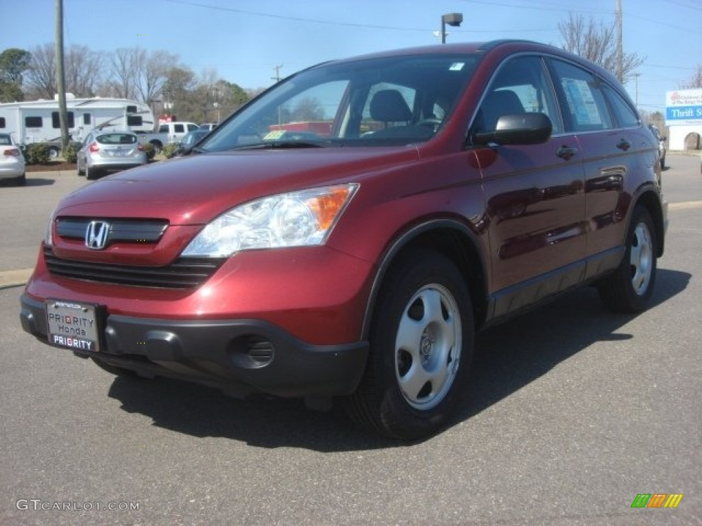 2009 CR-V LX - Tango Red Pearl / Gray photo #1