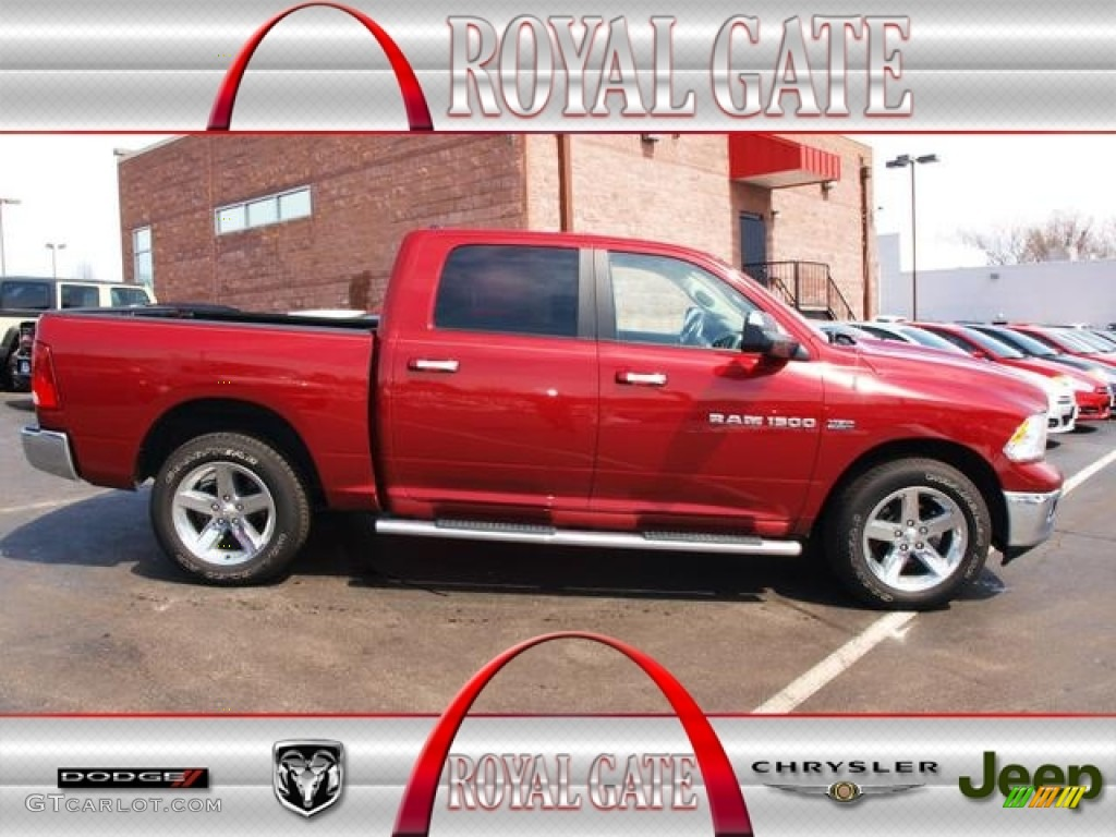 2011 Ram 1500 Big Horn Crew Cab 4x4 - Deep Cherry Red Crystal Pearl / Dark Slate Gray/Medium Graystone photo #1