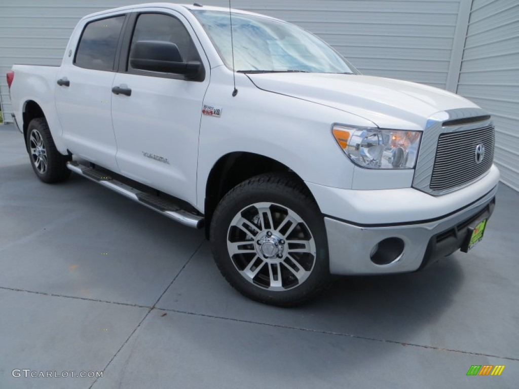 2013 Tundra Texas Edition CrewMax - Super White / Graphite photo #1