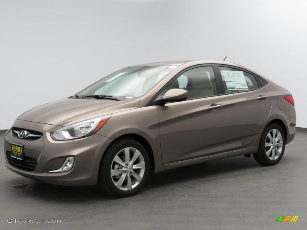 2013 Mocha Bronze Hyundai Accent Gls 4 Door 78997092