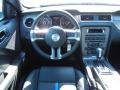 2014 Ford Mustang Charcoal Black/Grabber Blue Accent Interior Dashboard Photo