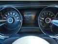 2014 Ford Mustang Charcoal Black/Grabber Blue Accent Interior Gauges Photo