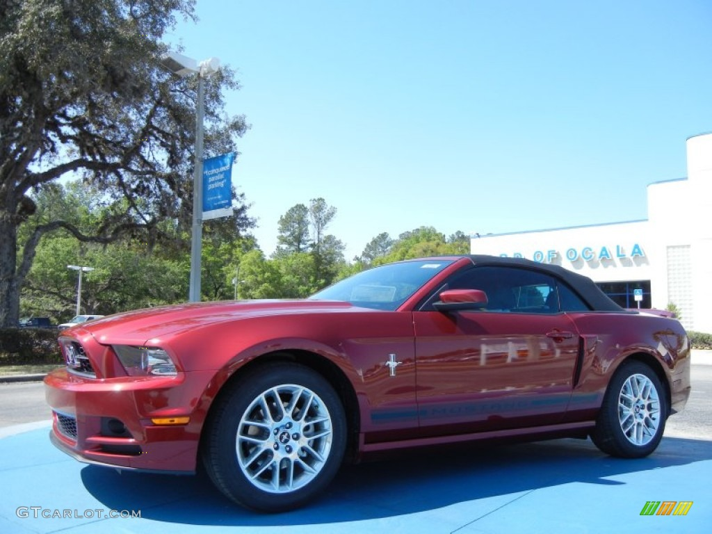 2014 Mustang V6 Premium Convertible - Ruby Red / Charcoal Black photo #1