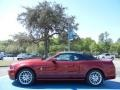 2014 Ruby Red Ford Mustang V6 Premium Convertible  photo #2