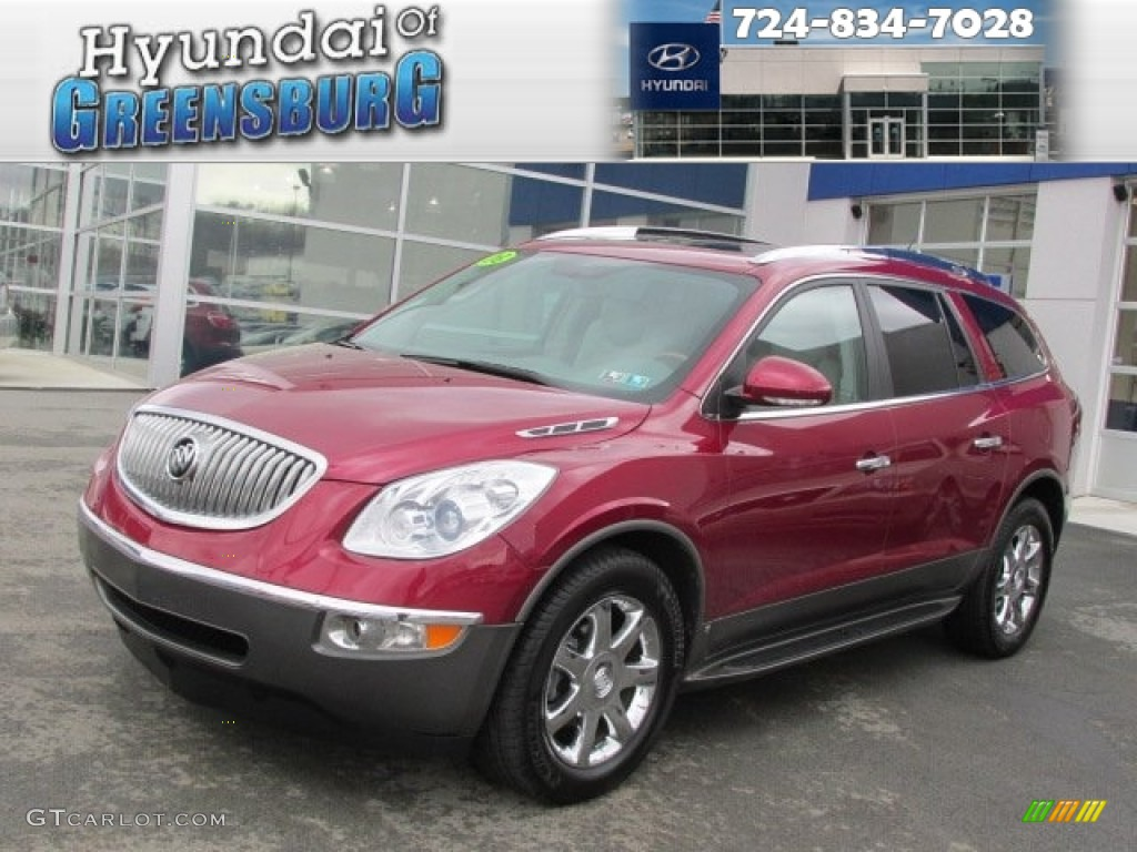 2008 Enclave CXL AWD - Red Jewel / Titanium/Dark Titanium photo #1
