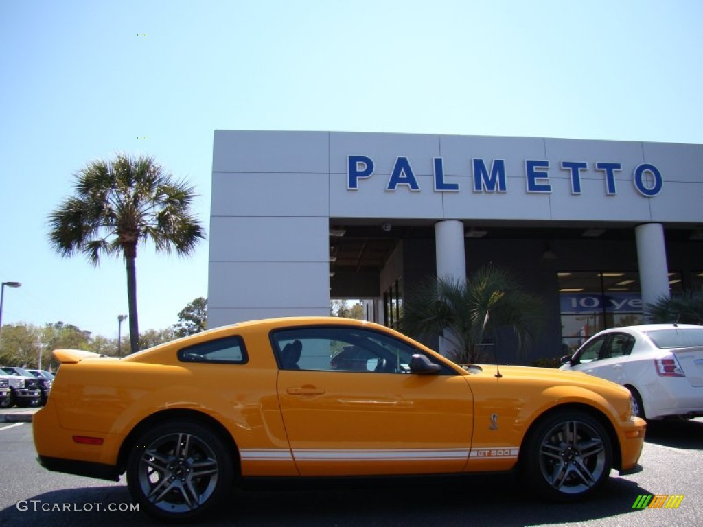 2007 Mustang Shelby GT500 Coupe - Grabber Orange / Black Leather photo #1