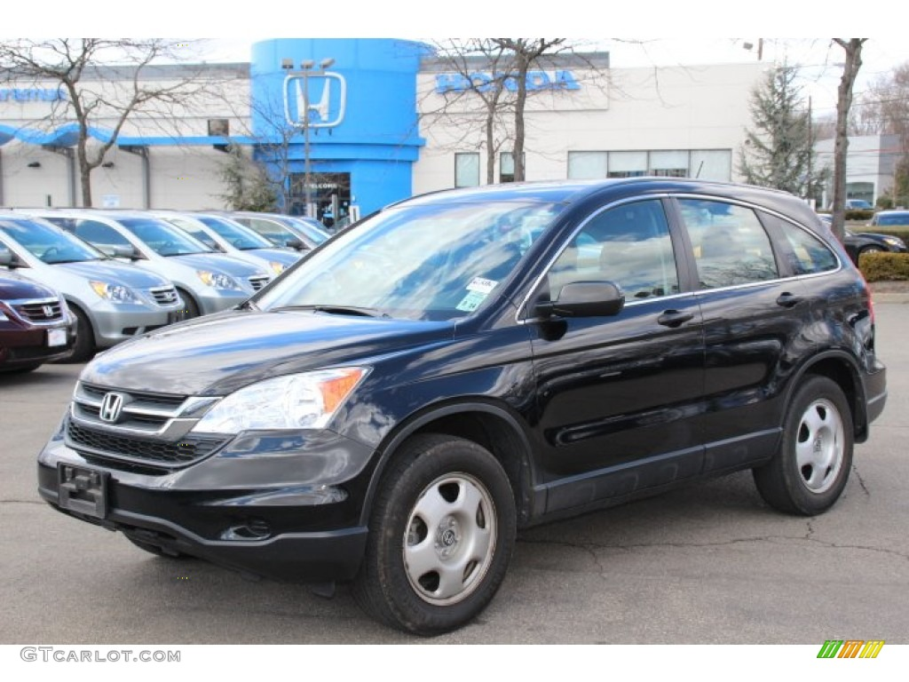2010 CR-V LX AWD - Crystal Black Pearl / Black photo #1
