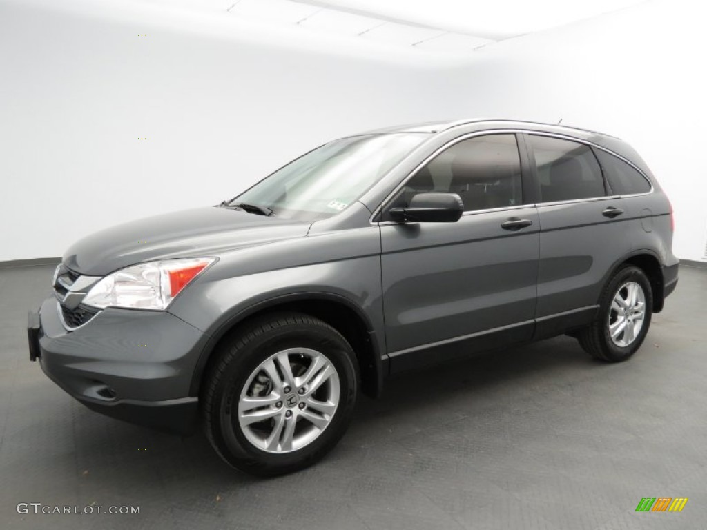 2010 CR-V EX - Polished Metal Metallic / Gray photo #1