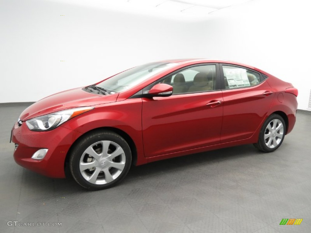 Red Allure 2013 Hyundai Elantra Limited Exterior Photo 79075829 Gtcarlot Com