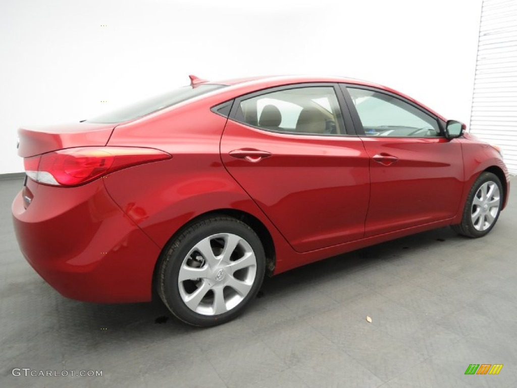 Red Allure 2013 Hyundai Elantra Limited Exterior Photo