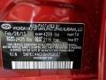 T4: Sparkling Ruby 2013 Hyundai Sonata SE Color Code