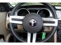 2007 Ford Mustang Black/Parchment Interior Steering Wheel Photo