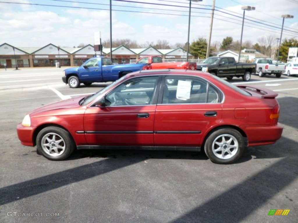 1997 Bordeaux Red Metallic Honda Civic Lx Sedan 79151310 Photo 4 Gtcarlot Com Car Color Galleries