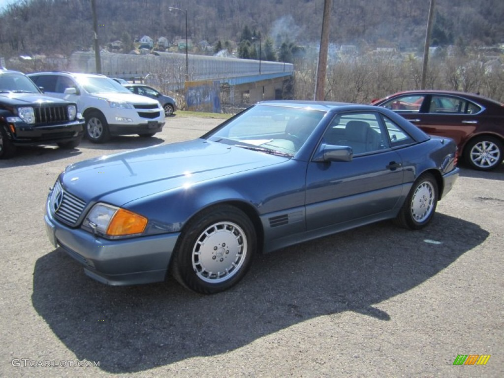 1992 nautical blue metallic mercedes benz sl 500 roadster for 1992 mercedes benz sl500