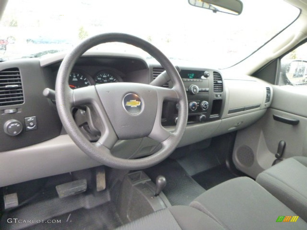 Dark Titanium Interior 2011 Chevrolet Silverado 1500 Regular Cab 4x4 Photo #79170928