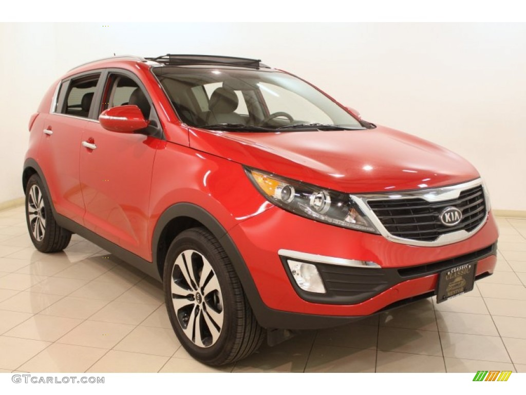 2012 signal red kia sportage ex 79158172 car color galleries. Black Bedroom Furniture Sets. Home Design Ideas
