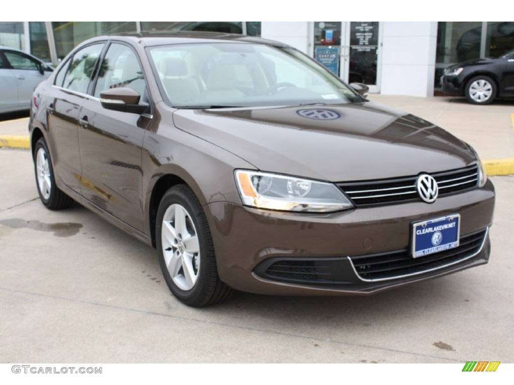 2013 Toffee Brown Metallic Volkswagen Jetta Tdi Sedan
