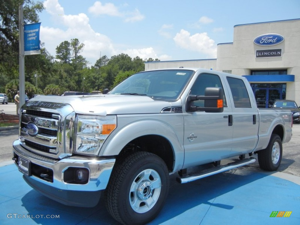2012 F250 Super Duty XLT Crew Cab 4x4 - Ingot Silver Metallic / Steel photo #1