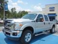 2012 Ingot Silver Metallic Ford F250 Super Duty XLT Crew Cab 4x4  photo #1