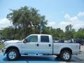 2012 Ingot Silver Metallic Ford F250 Super Duty XLT Crew Cab 4x4  photo #2