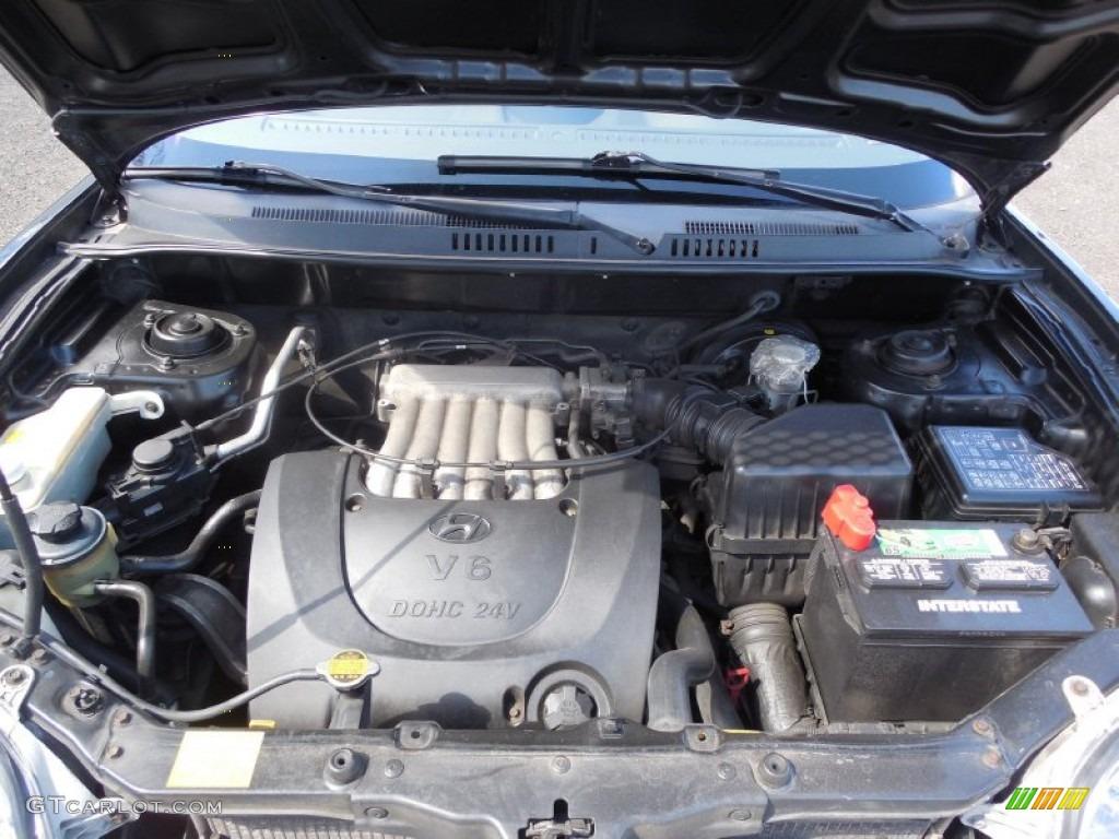 2001 Hyundai Santa Fe LX V6 4WD 2.7 Liter DOHC 24-Valve V6 ...