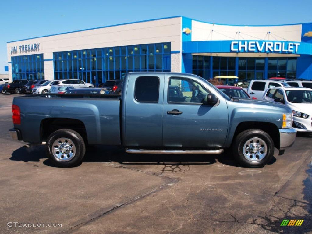 2012 Silverado 1500 LS Extended Cab - Blue Granite Metallic / Dark Titanium photo #1