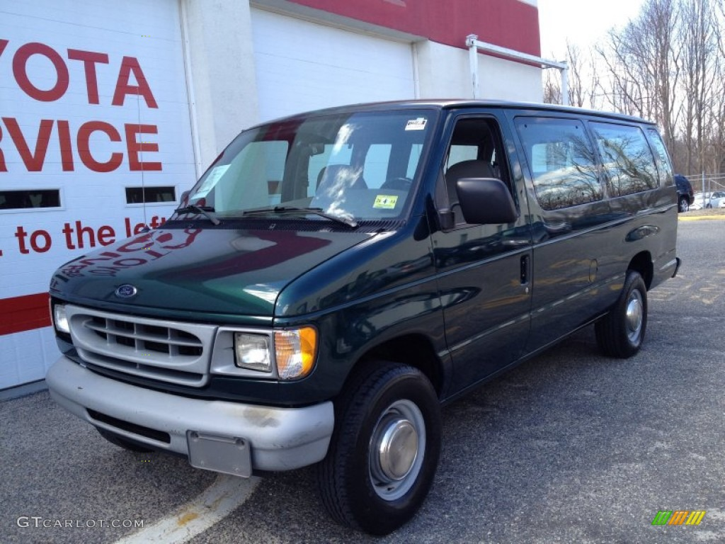 1999 deep emerald green metallic ford e series van e350. Black Bedroom Furniture Sets. Home Design Ideas