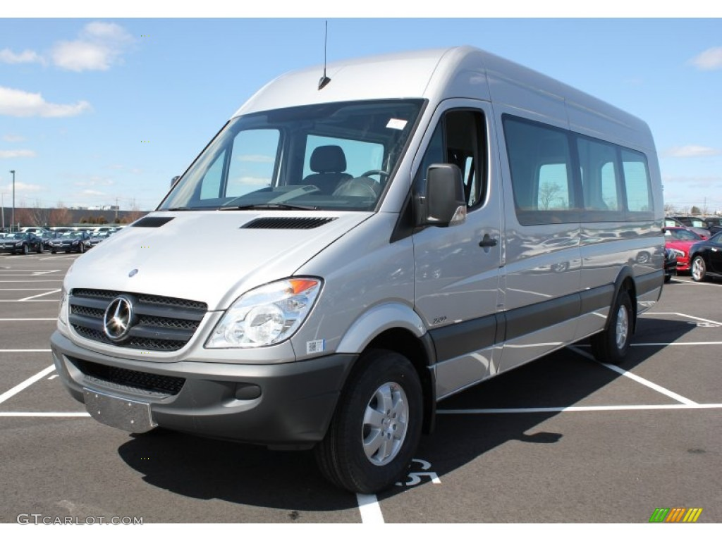 2013 brilliant silver metallic mercedes benz sprinter 2500 for Mercedes benz sprinter cargo van