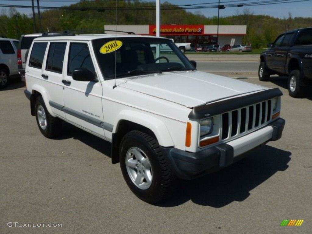 stone white 2001 jeep cherokee sport 4x4 exterior photo 79274858. Cars Review. Best American Auto & Cars Review