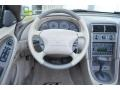 2002 Ford Mustang Medium Parchment Interior Steering Wheel Photo
