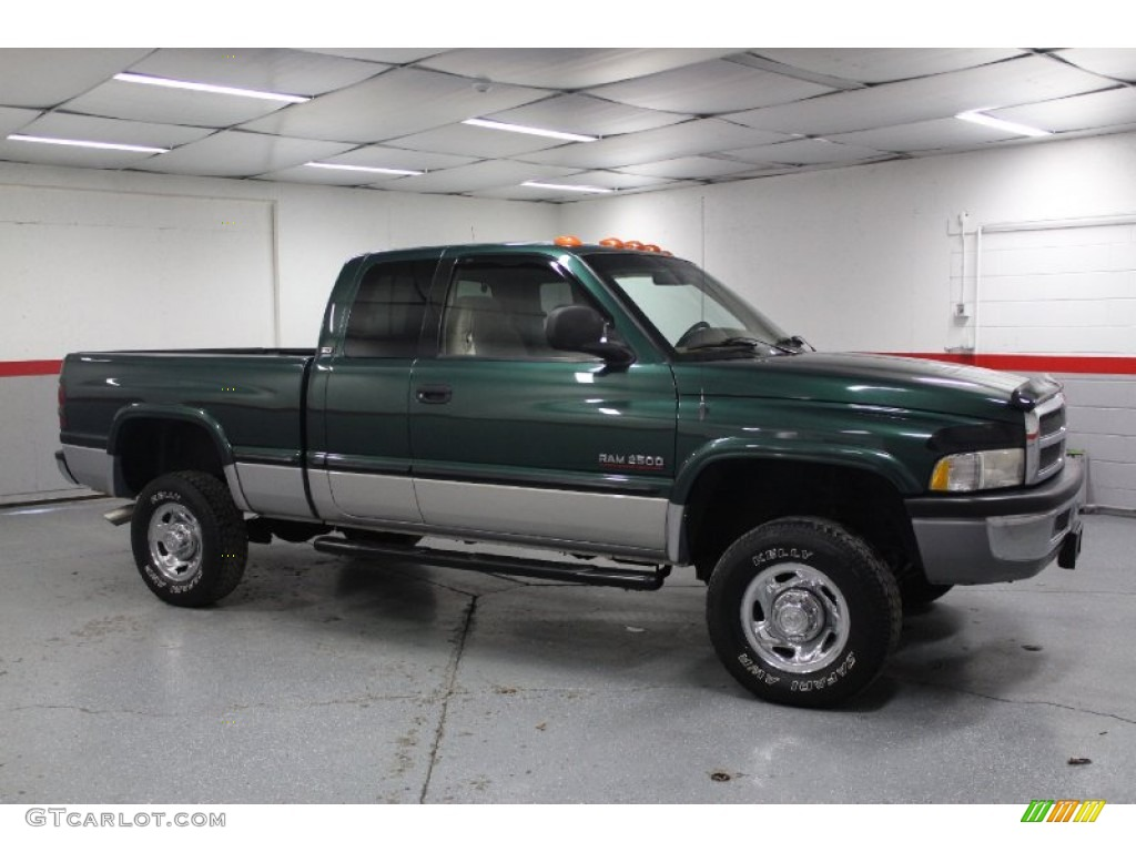 Emerald Green Pearl 1999 Dodge Ram 2500 Laramie Extended