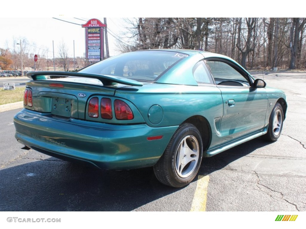 1998 pacific green metallic ford mustang v6 coupe 79263667 photo 6