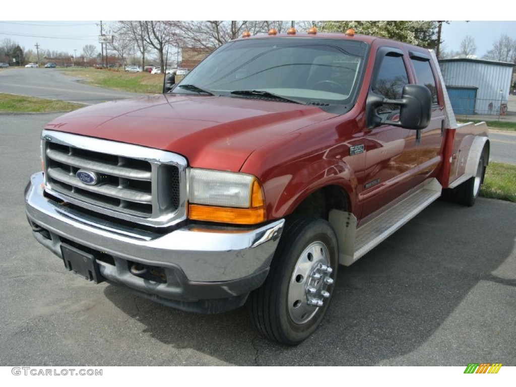 2001 Toreador Red Metallic Ford F550 Super Duty XLT Crew ...
