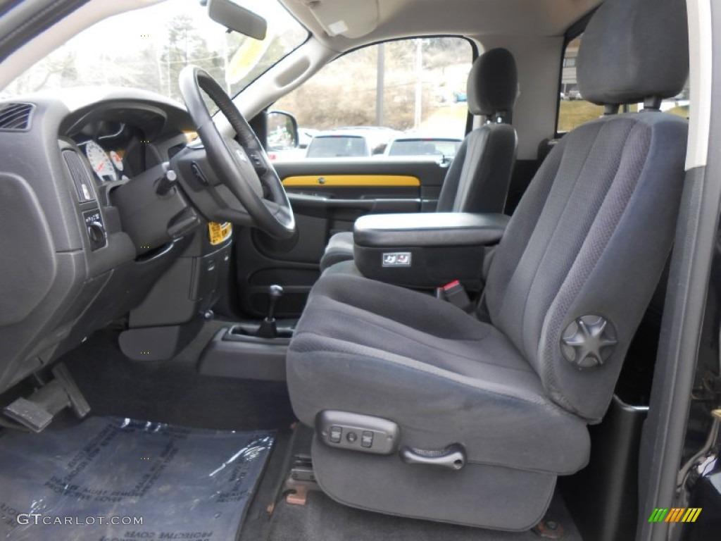 2004 Dodge Ram 1500 Rumble Bee Regular Cab 4x4 Front Seat Photo #79350025 |  GTCarLot.comGTcarlot.com