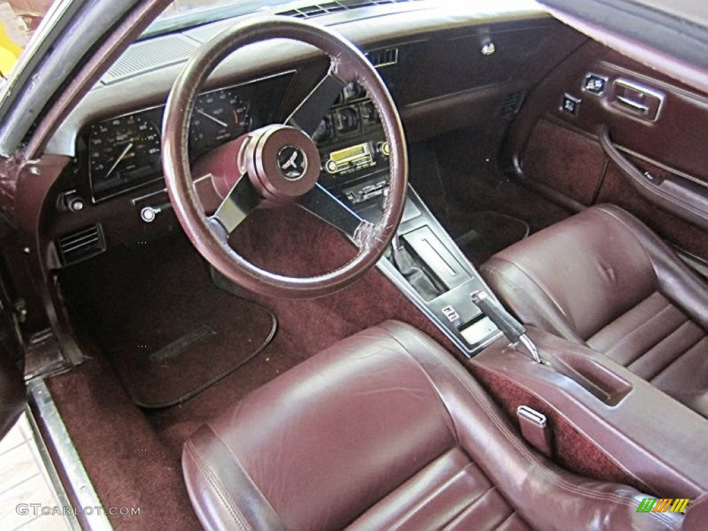 Claret Interior 1980 Chevrolet Corvette Coupe Photo