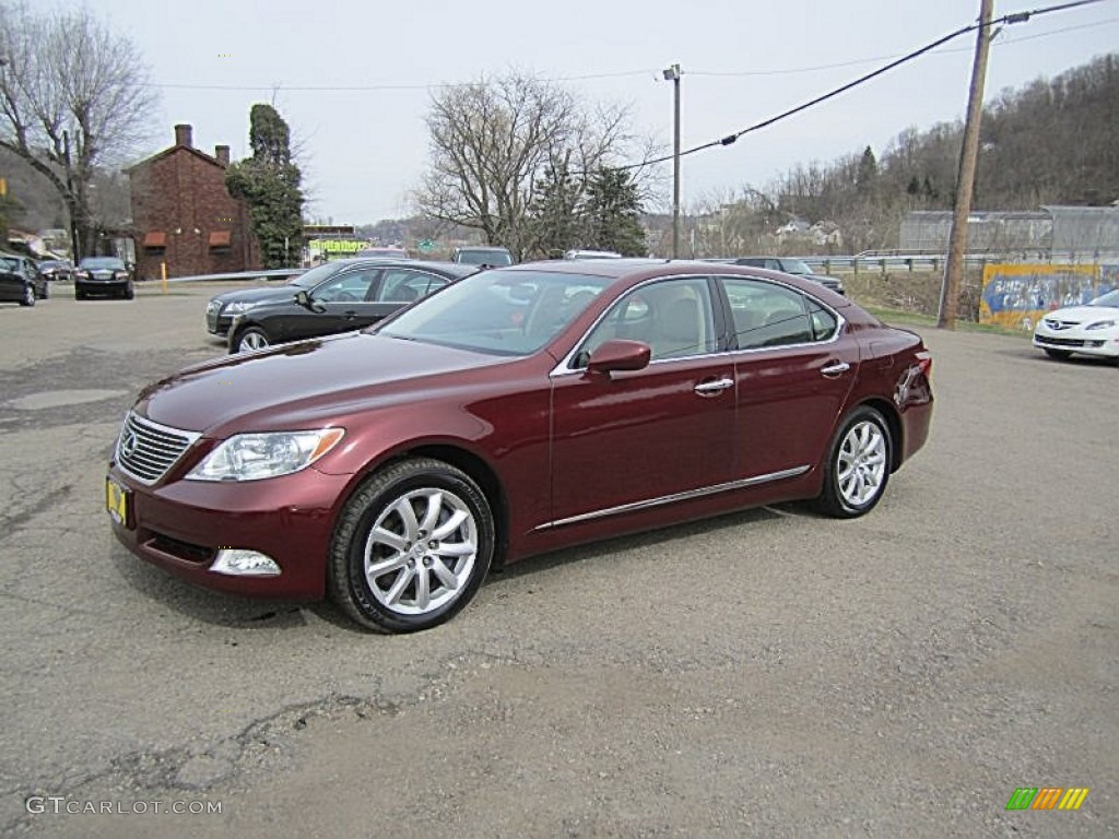 2009 noble spinel red mica lexus ls 460 awd 79320518. Black Bedroom Furniture Sets. Home Design Ideas