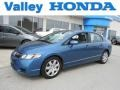 Atomic Blue Metallic 2010 Honda Civic LX Sedan