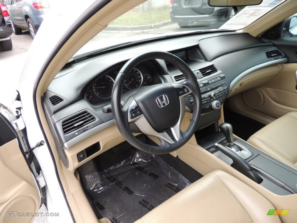Ivory Interior 2008 Honda Accord Ex L Coupe Photo