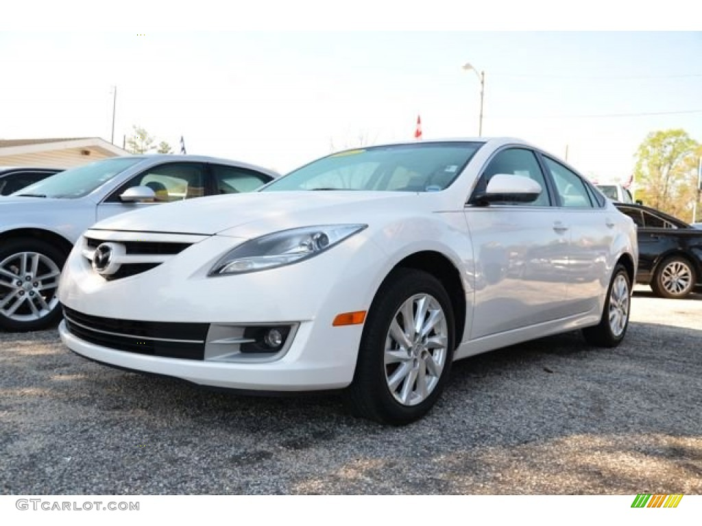 2012 white platinum pearl mazda mazda6 i touring sedan 79427287 car color. Black Bedroom Furniture Sets. Home Design Ideas