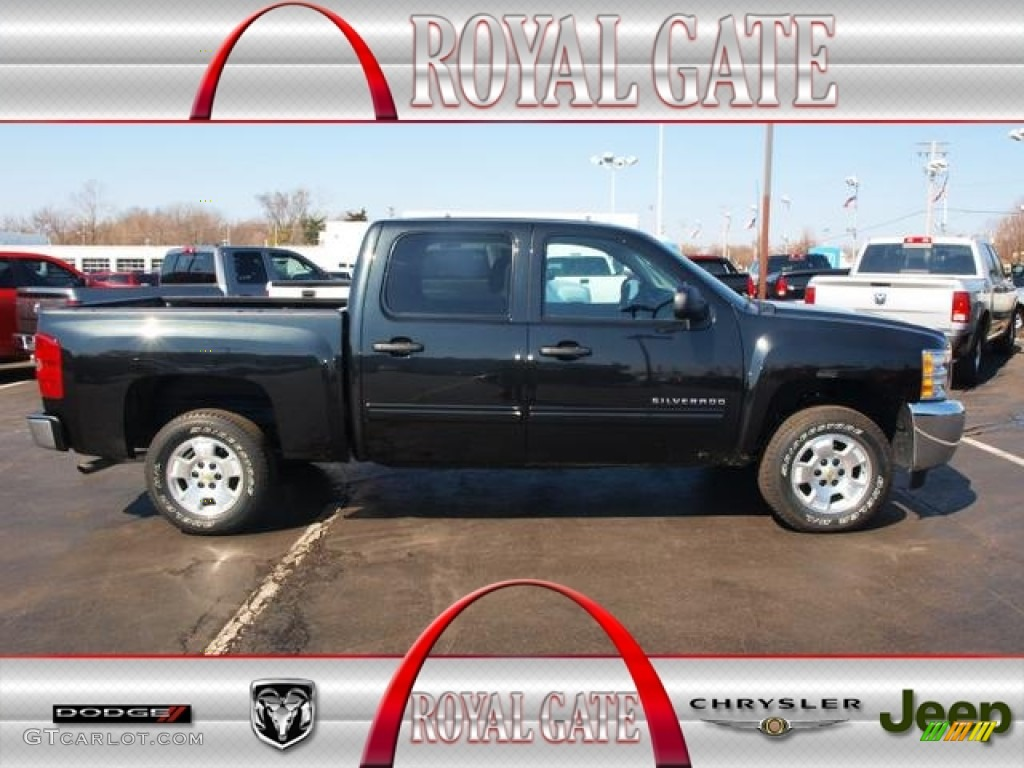 2012 Silverado 1500 LT Crew Cab - Black Granite Metallic / Ebony photo #1