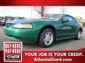 2000 Electric Green Metallic Ford Mustang V6 Coupe #79427314