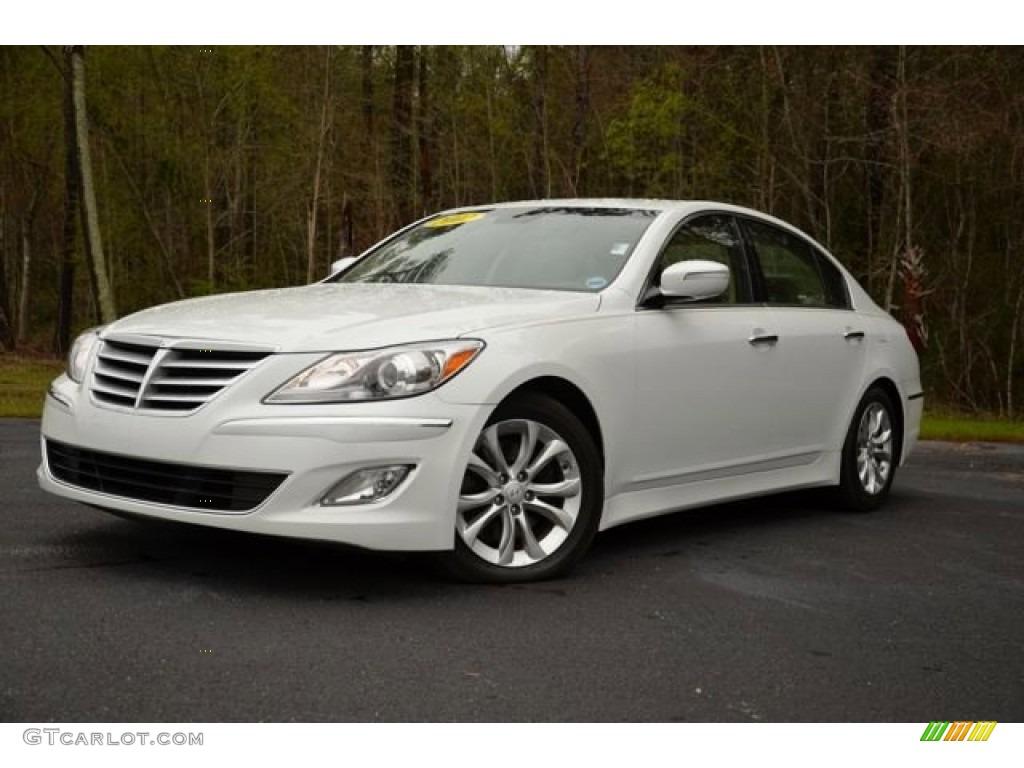 2012 White Satin Pearl Hyundai Genesis 3 8 Sedan 79427289 Gtcarlot Com Car Color Galleries