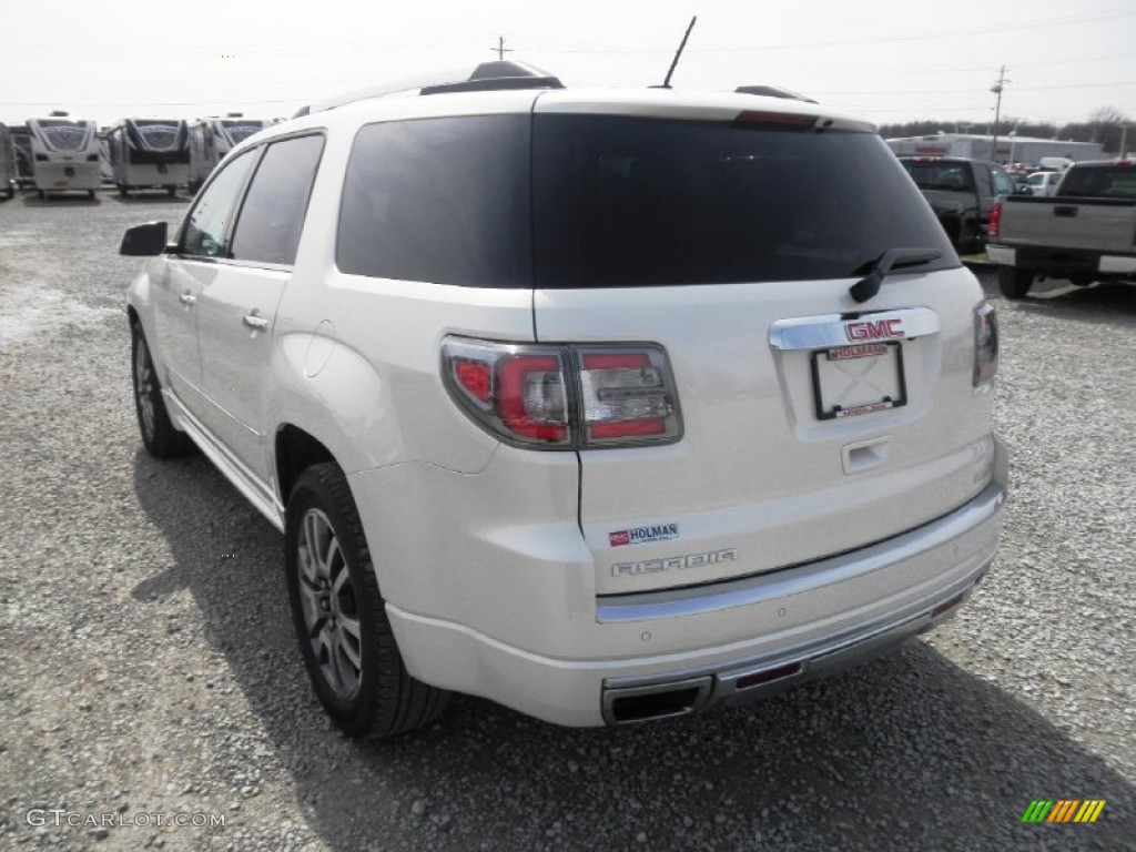 2013 Acadia Denali AWD - White Diamond Tricoat / Ebony photo #27